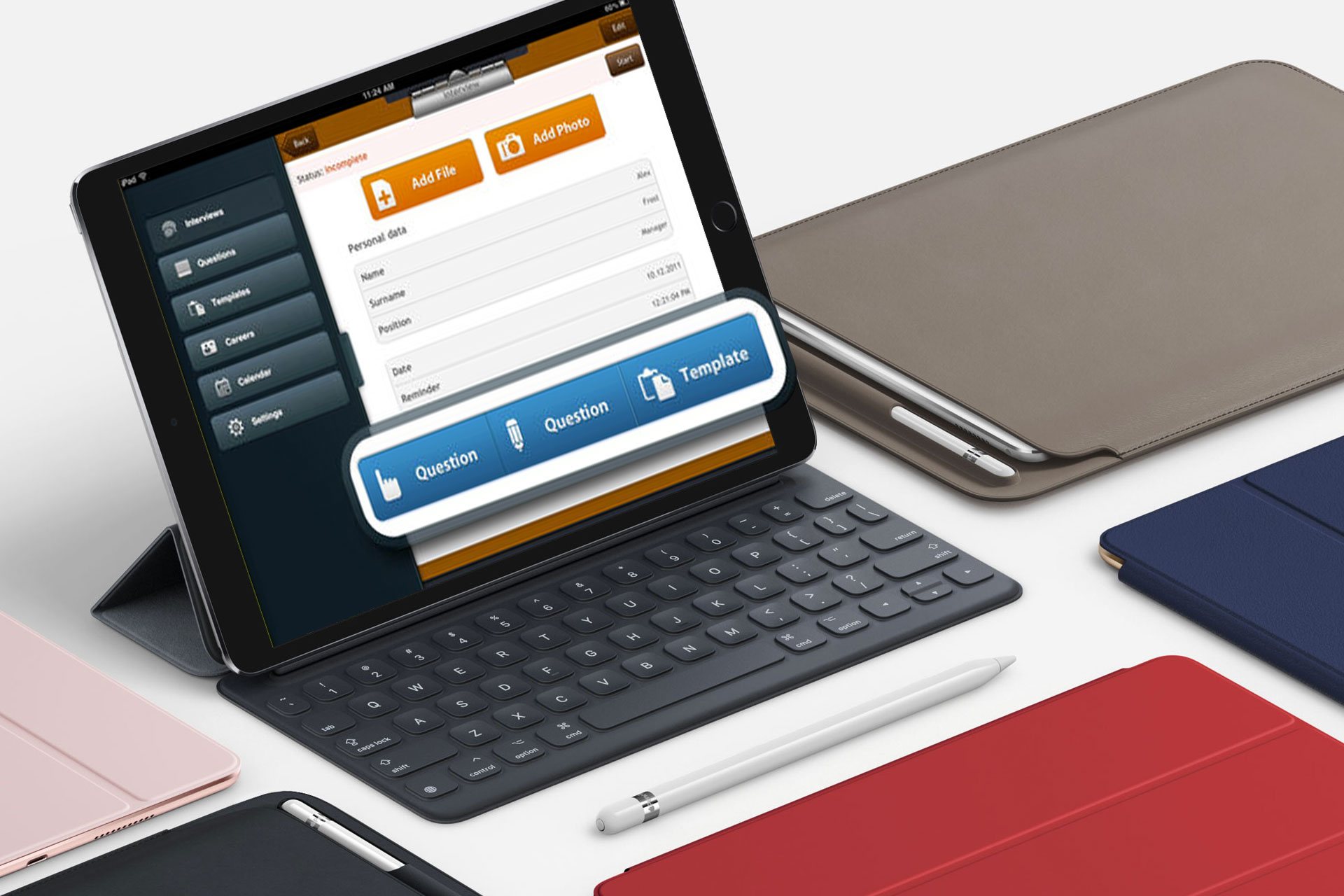 INTERVIEW ASSISTANT mobile app for tablet