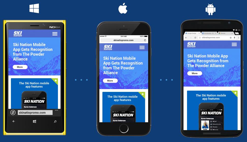 Mobile web development intersog for Mobel website