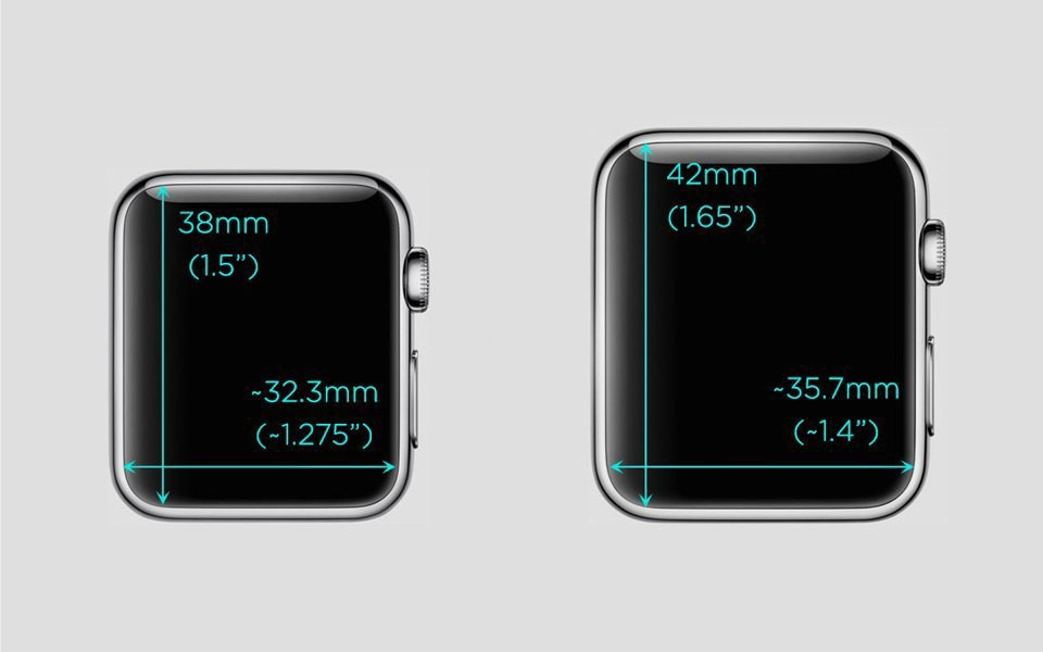 position of elements in Apple Watch apps