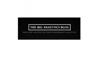 Big Data and analytics blog