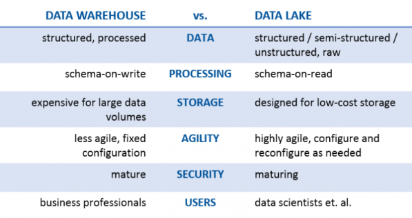 data house vs data lake